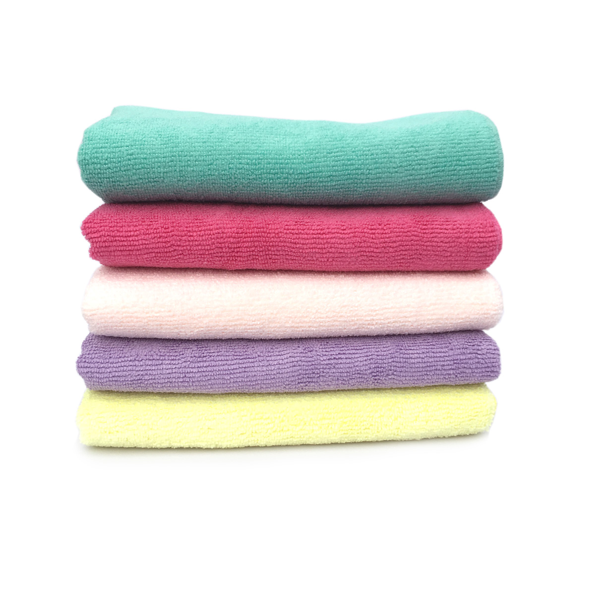 Towels Multi-purpose Microfiber Soft Fast Drying Travel Gym Home Office Washcloths 5-pack(13 x 28 Inch) (5-Color)